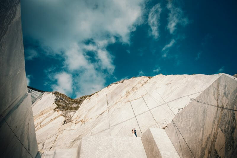 Marble Quarries Carrara Wedding Photographer