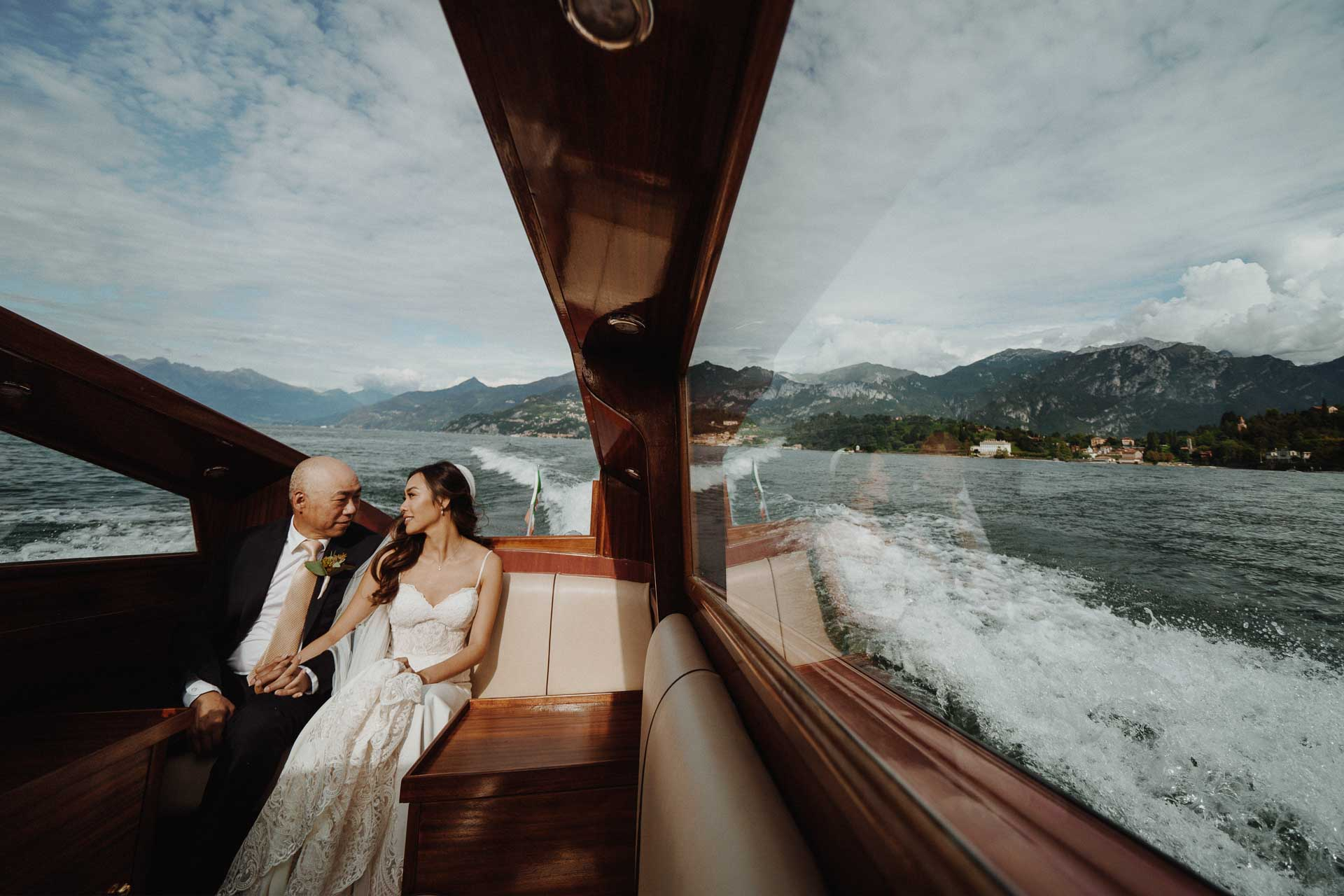 a frame from a wedding on como lake